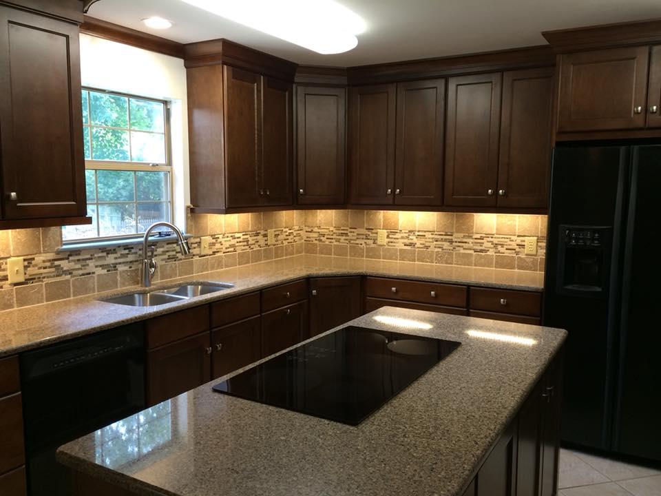 oak cabinets new kitchen island in lexington ky